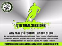U16 Football Trial Session at Epping Forest Falcons FC