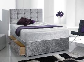 SAMEDAY ExpressDelivery HighQuality Crushed Velvet Double Bed King super Luxury Memoryfoam Mattress