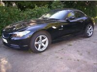 2009 59 reg BMW Z4 2.5 TINTOP CONVERTIBLE METALIC BLACK/BLACK LEATHER INTERIOR