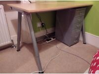 Desk and drawer unit for sale - pick up only!