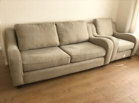 Contemporary Sofa and 2 Arm Chairs