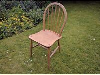 Blonde Ercol Windsor Kitchen Chair Mid Century Retro Project chair, requires thorough clean & wax.
