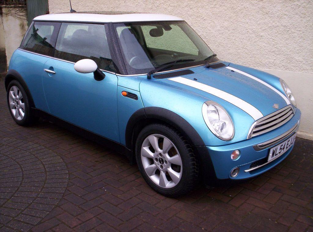 Bonnet Stripes Mini Cooper >> MINI COOPER 1.6 BLUE(WHITE STRIPES)-59,000 MILES-4 SERVICES-MOT 30th SEPTEMBER 2016 (NO ...