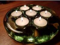 Solid Glass Tealight Holder
