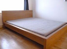Ikea Malm Platform Bed / Double