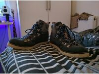 Superdry Cutnal Boots Leadpipe Size 11