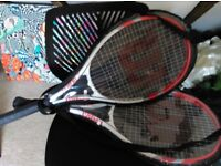 Wilson adults tennis racket and carry case x 2.