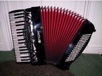 Pigini Preludio 96 Bass Compact Piano Accordion - Hard Case - Top Quality