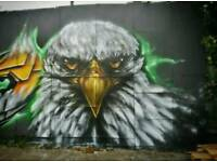 Graffiti artist for bespoke mural/airbrush art/workshops/shop shutters and more..