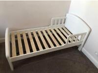 East coast toddler kids bed white & large under bed drawer