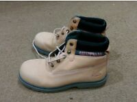 Ladies Pink CAT Boots - Size 5