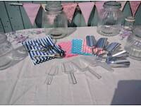 Sweetie scoops, tongs and bags