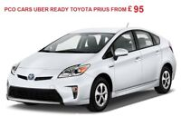 PCO Cars to rent from £95 Toyota Prius Uber, Taxi, Cab ready