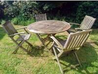 Solid Teak Wood Patio / Garden Dining Set *STUNNING - *Absolute Bargain*