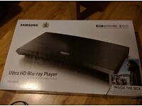 Brand new sealed Samsung ultra HD blu ray player UBD-K8500 with 3 4K Films