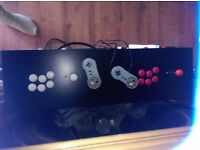 Retro console and arcade games table, NES, SNES, Master System, Megadrive plus all arcade games
