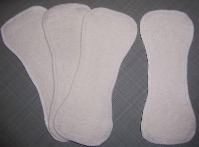 12 Newborn Hemp Organic Cotton Fleece Cloth Diaper Liners Doubler Kushies Soaker ()
