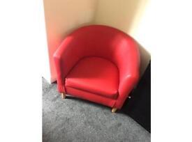 Red Tub Chair/Sofa