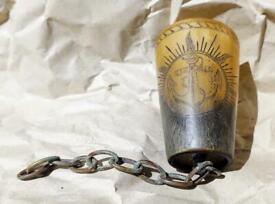 Original Rare Antique WW1 1916 Royal Naval Horn Tot Beaker