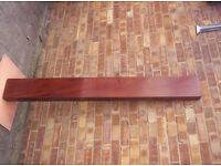 mahogany shelf approx 67ins long x 7.75ins wide