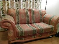2 and 3 seater sofas. Excellent condition considering the age. Unique design.