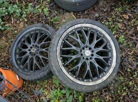 "5x112 multi fit 19""bkracing wheels"