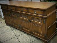 "Wood Bros ""Old Charm"" 4 door 4 draw Hertford Antique Sideboard"