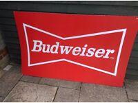 BUDWEISER BAR SIGN 5FT X 3FT