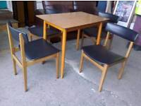 Retro Dining Table and 4 Chairs - Delivery Available