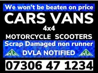 ‼️ ALL CAR VAN WANTED SCRAP DAMAGED ANY CONDITION FAST CASH ON COLLECTION
