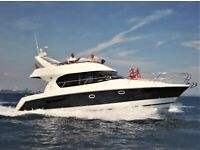 boat prestige 39 family cruiser absolutely stunning extremely low hours on engines must be seen