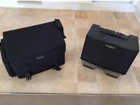 Roland AC-90 Acoustic Chorus Guitar Amplifier with official carry case
