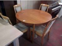 Teak dining table and x 4 chairs