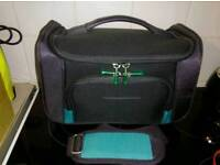 Small hand luggage suitcase or make up box