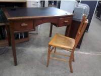 Vintage leather topped desk - Delivery Available
