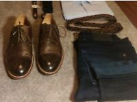 Vintage Italian Brown Leather Toecap Brogues. Dasthon UK 8.5 EU 43 [Leather Dress Shoes]