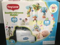 NEW BOXED UNUSED COT MOBILE WITH 18 TUNES, LIGHT, COST £50 ONLY £25, CAN POST