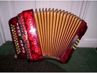 Paolo Soprani Accordion/Accordian/Melodeon - B/C - 9 Treble couplers - Very nice
