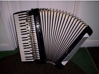 Hohner Musette IV Accordion/Accordian, 120 Bass with Hard case - Very good condition