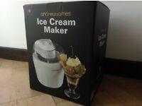 Andrew James ice cream maker - practically new