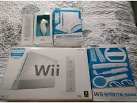 Wii sports with powerbank two controlers accessorie pack plus 3games nearly new all still boxed