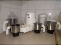 Preethi Mixer Grinder - 1 Yr Old in good condition with 5 Jars