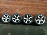 """SET OF 4 UESD 18"""" GENUINE JAGUAR ALLOYS can fit to Ford mondeo Focus etc"""