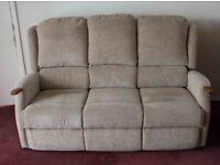 Sofa with lumbar support.