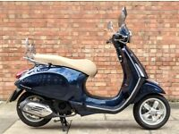 Vespa Primavera 125cc (65 REG), As new condition with only 395 miles! One Owner from new!