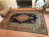 Traditional English Velvet Wilton Carpet - 100% Wool