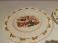 bunnykins plates