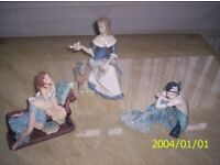 3 lovely figurines
