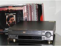 Laserdisc player with more than 60 top hit movies on laserdiscs