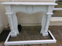 Fire surround h 45in w 54in mantlepiece 60in and fender 60in by 21in £ 40